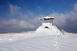 hut for viewing on the summit of the Kandel, Black Forest, Baden-Wurttemberg, Germany