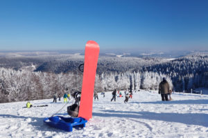 Winter sports at the Kandel, Black Forest, Baden-Wurttemberg, Germany