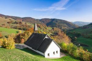 chapel close Wieden, Black Forest, Baden-Wurttemberg, Germany