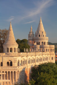 Fisherman's Bastion at sunrise at the castle hill of Buda, Budapest, Hungary
