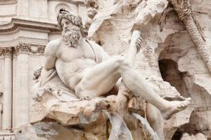 Fontana dei Quattro Fiumi, Vierflüssebrunnen, Architekt Bernini, Piazza Navona, Rom, Latium, Italien