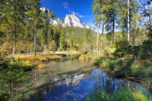 Hintersee, Ramsau, Berchtesgadener Land, Nationalpark Berchtesgaden, Oberbayern, Deutschland