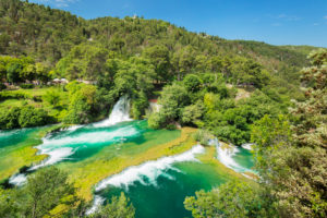 Skradinski Buk Waterfall, Krka National Park, UNESCO World Heritage Site, Dalmatia, Croatia