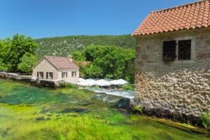 Restaurant in Krka National Park, UNESCO World Heritage, Dalmatia, Croatia