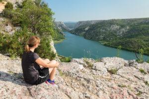 View of Medu Gredama canyon, Krka National Park, UNESCO World Heritage Site, Dalmatia, Croatia