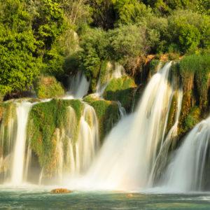 Skradinski Buk Wasserfall, Nationalpark Krka, UNESCO Weltnaturerbe, Dalmatien, Kroatien