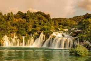 Skradinski Buk Waterfall, Krka National Park, UNESCO World Heritage Site, Dalmatia, Croatia