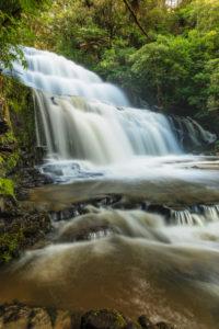 Parakaunui Falls, Catlins, Otago, South Island, New Zealand, Oceania