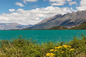 Lake Wakatipu against Thomson Mountains, Queenstown, Otago, South Island, New Zealand, Oceania