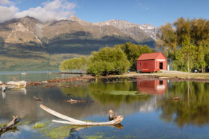 After the storm, Glenorchy Lagoon, Glenorchy, Otago, South Island, New Zealand, Oceania