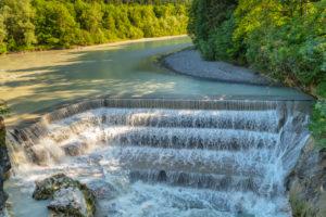 Lech Wasserfälle bei Füssen, Schwaben, Allgäu, Bayern, Deutschland