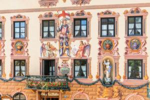 Gasthof zum Rassen, Ludwigsstrasse, Orteils Partenkirchen, Garmisch-Partenkirchen, Upper Bavaria, Bavaria, Germany