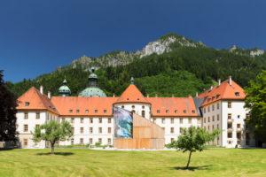 Kloster Ettal, Barocke Benediktinerabtei, Werdenfelser Land, Oberbayern, Bayern, Deutschland