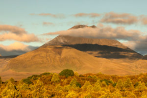 Mount Ngauruhoe at sunset, Tongariro National Park, UNESCO World Heritage Site, Ruapehu, North Island, New Zealand
