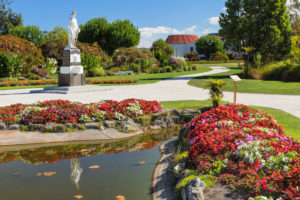 South African War memorial, Government Garden, Rotorua, Bay of Plenty, Nordinsel, Neuseeland, Ozeanien