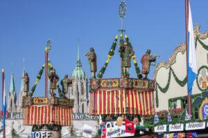 Beer tents at the Munich Oktoberfest, Ludwigsvorstadt, Munich, Upper Bavaria, Bavaria, southern Germany, Germany, Europe