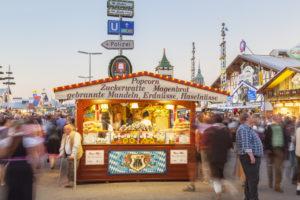 Stand at the Munich Oktoberfest, Ludwigsvorstadt, Munich, Upper Bavaria, Bavaria, Southern Germany, Germany, Europe