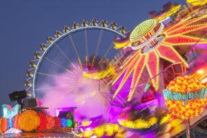 Carousel at the Munich Oktoberfest, Ludwigsvorstadt, Munich, Upper Bavaria, Bavaria, Southern Germany, Germany, Europe