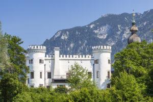 Schloss Marzoll bei Bad Reichenhall, Berchtesgadener Land, Oberbayern, Bayern, Süddeutschland, Deutschland, Europa