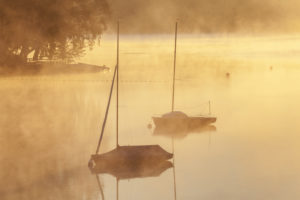 Sunrise at Lake Staffelsee, Uffing am Staffelsee, Upper Bavaria, Bavaria, Southern Germany, Germany, Europe