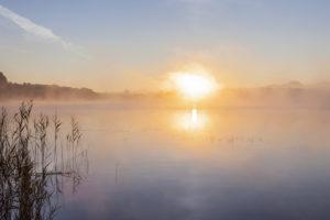 Sonnenaufgang am Staffelsee, Uffing am Staffelsee, Oberbayern, Bayern, Süddeutschland, Deutschland, Europa