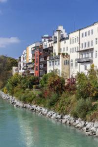 Blick auf die Altstadt von  Wasserburg am Inn, Oberbayern, Bayern, Süddeutschland, Deutschland, Europa