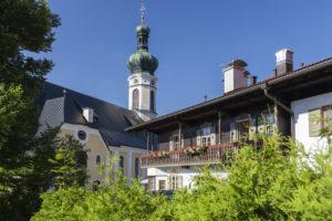 Pfarrkirche Sankt Pankratius in Reit im Winkl, Chiemgau, Oberbayern, Bayern, Süddeutschland, Deutschland, Europa