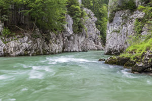 Entenlochklamm near Schleching, Chiemgau, Upper Bavaria, southern Germany, Germany, Europe