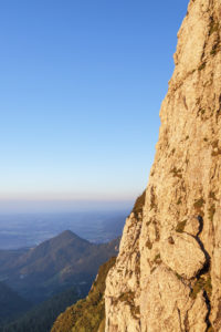 Rock at the summit of the Kampenwand (1669 m), near Aschau, Chiemgau Alps, Chiemgau, Upper Bavaria, Bavaria, southern Germany, Germany, Europe