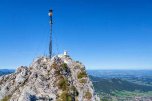 Gipfel der Kampenwand, Chiemgau, Chiemgauer Alpen, Oberbayern, Bayern, Süddeutschland, Deutschland