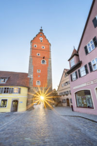 Wörnitztor in the old town of Dinkelsbühl, Middle Franconia, Franconia, Bavaria, Southern Germany, Germany, Europe