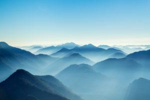 Ausblick vom Gipfel des Roßstein (1698m), Tegernseer Berge, Mangfallgebirge, Oberbayern, Bayern, Süddeutschland, Deutschland, Europa