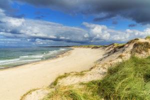 Strand an der Nordsee bei Nørre Vorupør, Nordjylland, Dänemark, Skandinavien, Nordeuropa, Europa