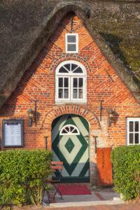Friesenhaus Wanlik Hus in St. Peter-Ording, Halbinsel Eiderstedt, Nordfriesland, Schleswig-Holstein, Norddeutschland, Deutschland, Europa