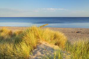 Strand von Graal-Müritz, Ostseeküste, Mecklenburg-Vorpommern, Norddeutschland, Deutschland, Europa