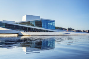 New opera house of the Norwegian Opera in Oslo, Norway, Scandinavia, Northern Europe, Europe