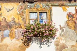 Hotel Post in Wallgau, Werdenfelser Land, Upper Bavaria, Bavaria, Southern Germany, Germany, Europe