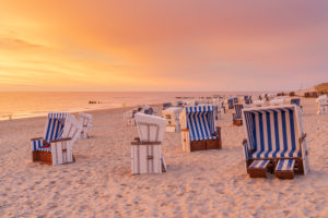 Abend am Strand von Kampen, Insel Sylt, Nordfriesland, Schleswig-Holstein, Norddeutschland, Deutschland, Europa