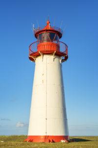 List West lighthouse at the Ellenbogen, Sylt Island, North Frisia, Friesland, Schleswig-Holstein, North Germany, Germany, Europe