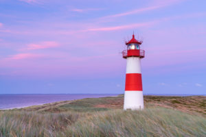List Ost lighthouse at the Ellenbogen, Sylt Island, North Friesland, Schleswig-Holstein, North Germany, Germany, Europe