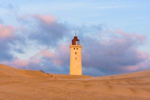 Lighthouse and Dune, Rubjerg Knude, Løkken, Lokken, North Jutland, Denmark