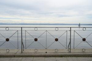 Lakeside promenade, Meersburg, Lake Constance, Baden-Württemberg, Germany