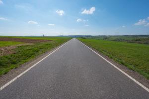 Country road, field, sky, spring, Vogelsberg, Hesse, Germany