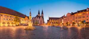 Market square panorama in Brunswick (Brunswick), Germany