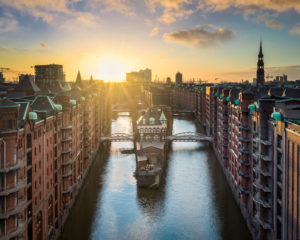The historic Speicherstadt in Hamburg, Germany