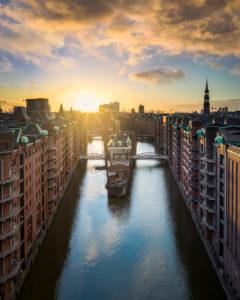 The historic Speicherstadt in Hamburg, Germany