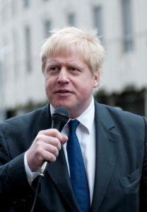 Mayor of London Boris Johnson at the opening of the new Braham Street Park  London, England UK