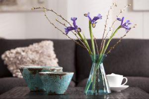 Schalen, Vase, Blumen, Tasse, Kissen,