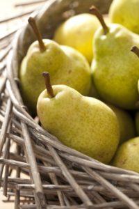 Pears, ripe, harvest, basket,