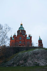 Uspenski Cathedral in Helsinki, Finland in November